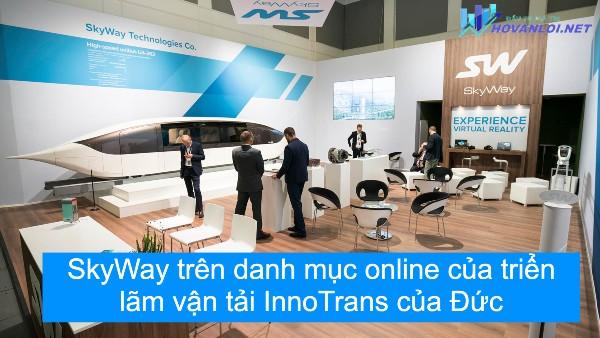 SkyWay trên danh mục online của triển lãm vận tải InnoTrans của Đức