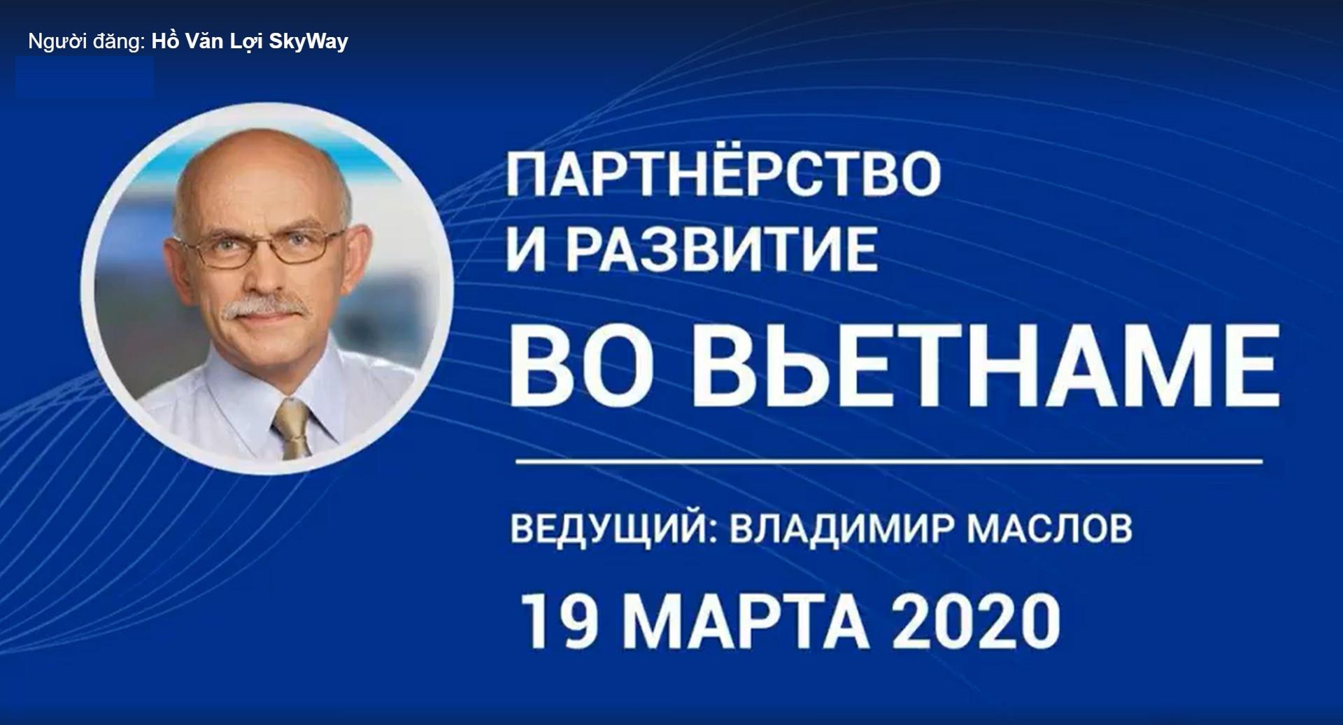 Hội thảo SkyWay trên Webinar được tổ chức vào ngày  19/03/2020