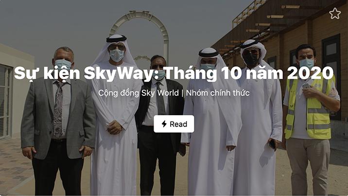 Tổng hợp các sự kiện chính SkyWay: Tháng 10 năm 2020