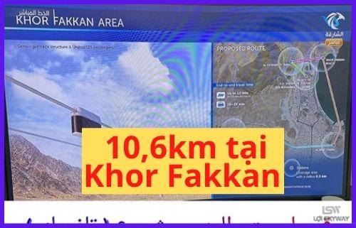 UAE lộ diện xây dựng công nghệ SkyWay với chiều dài là 10.6km tại thành phố du lịch nhỏ Khor Fakkan