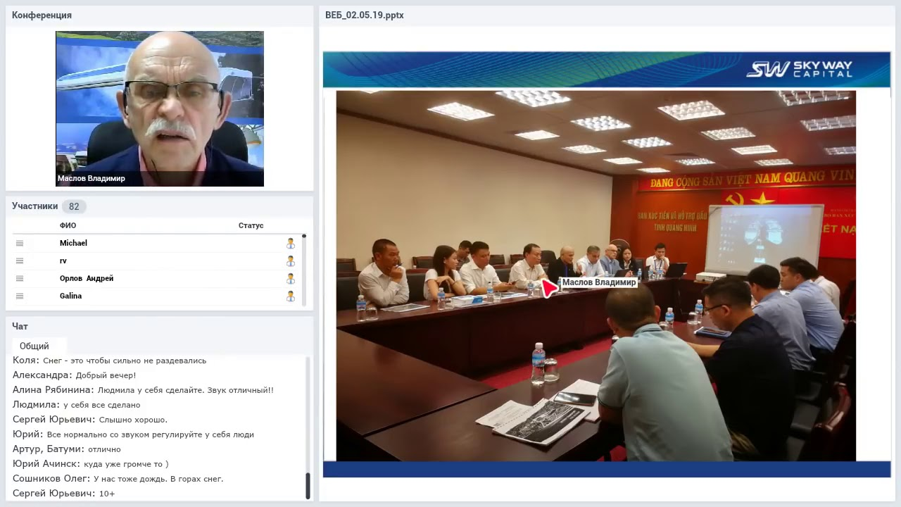 V.Maslov tóm tắt thông tin quan trọng hội thảo trực tuyến trên Webinar (  trong tháng 8 )