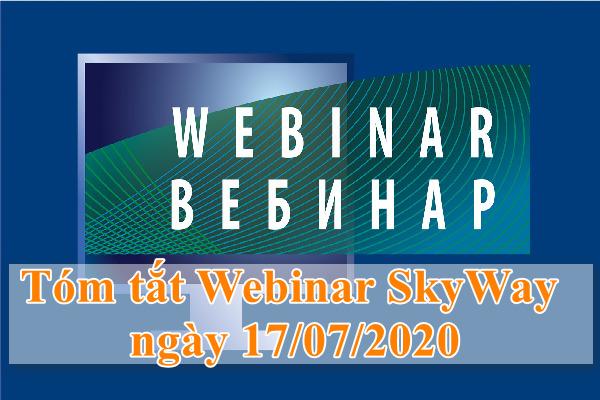 Tóm tắt Webinar SkyWay. Hợp tác và sự phát triển của SkyWay với Việt Nam ngày 17/07/2020