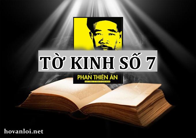 Tờ kinh số 7 | Bí mật của Phan Thiên An | Tôi sẽ cười với thế gian
